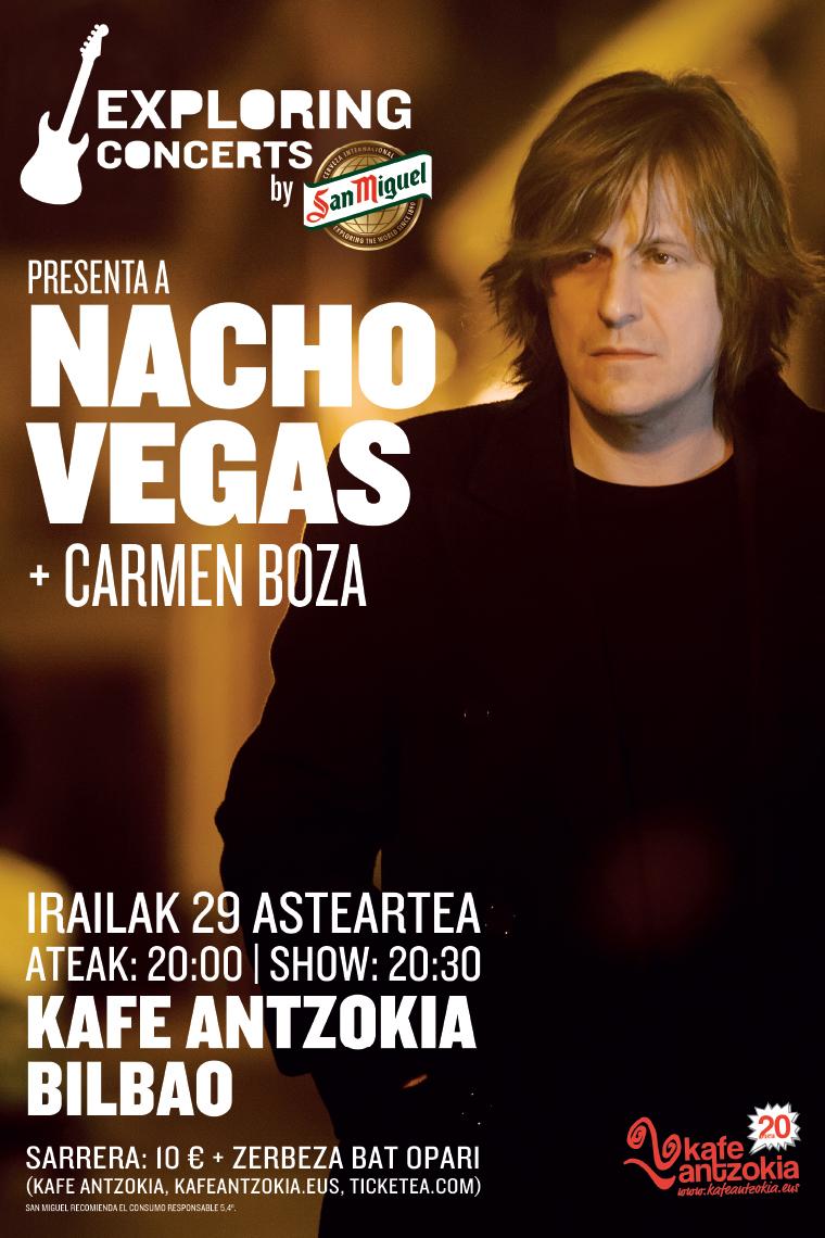 Cartel del concierto de Nacho Vegas