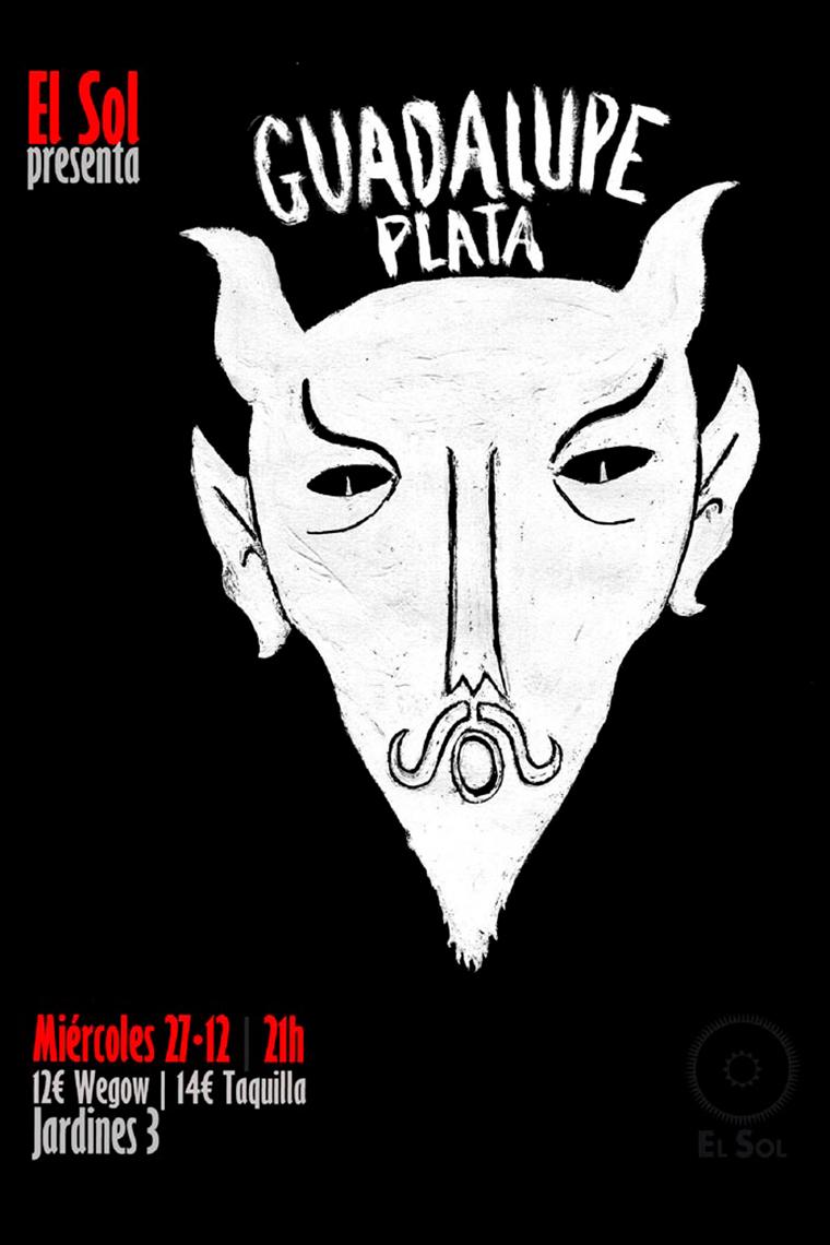 Cartel del concierto de Guadalupe Plata