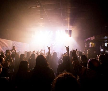 Fotografía de un concierto de rock